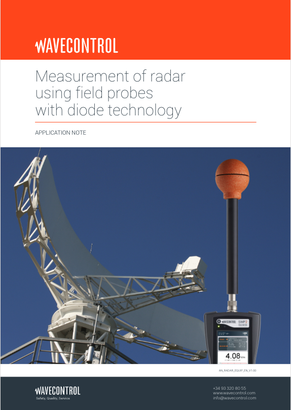 Measurement of radar using field probes with diode technology
