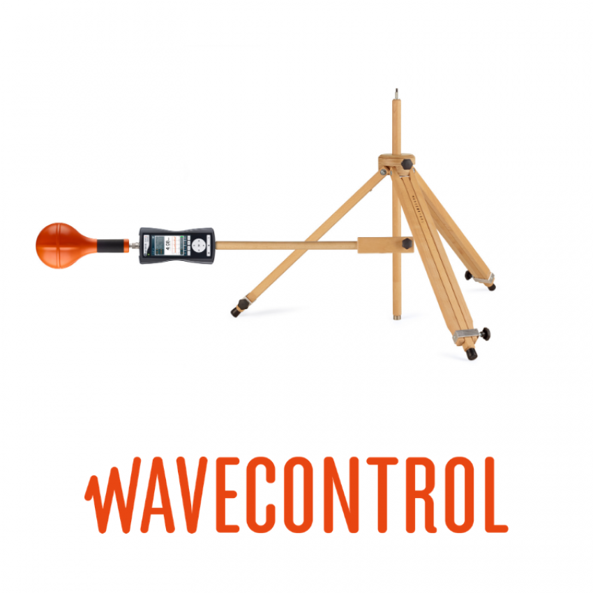 Wooden tripod for Wavecontrol SMP2 EMF Monitor
