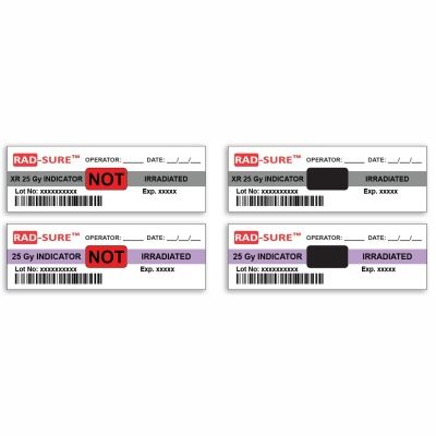 Ashland Radsure 25 GY Labels